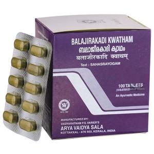 Баладжиракади Кватхам Коттаккал AVS (Balajirakadi Kawatham Kottakkal), 100 таблеток
