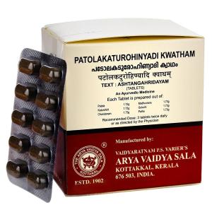 Патолакатурохинади Кватхам Коттаккал (Patolakaturohinyadi Kwatham Kottakkal), 100 таблеток