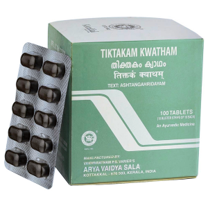Тиктакам Кватхам Коттаккал Аюрведа (Tiktakam Kwatham Kottakkal), 100 таблеток