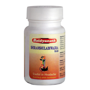 от головной боли Ширахшуладиваджра рас Байдинатх (Shirashuladivajra Ras Baidyanath), 40 таблеток