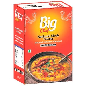 Перец кашмирский молотый Биг Чиф (Kashmiri Mirch Big Chef), 100 гр