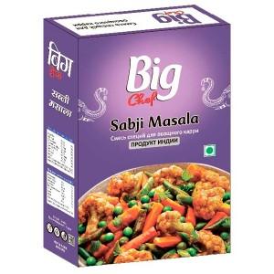 специи для овощных блюд Сабджи масала Биг Чиф (Sabji masala Big Chef), 100 гр.