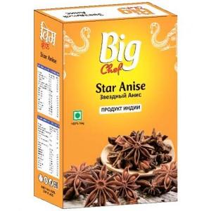 Бадьян целый (Анис звёздчатый) (Star Anise Big Chef), 25 гр