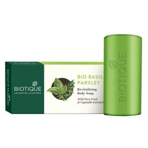 Натуральное мыло Био Базилик и Петрушка (Bio Basil Parsley, Biotique), 150 грамм