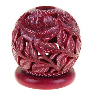 каменный подсвечник Красная Роза