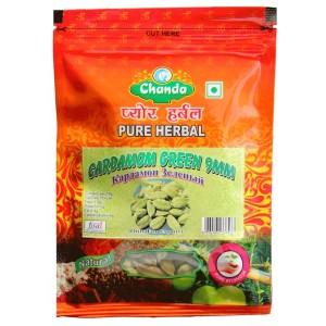 Кардамон зелёный целый 9 мм Чанда (Cardamom Green Chanda), 50 грамм