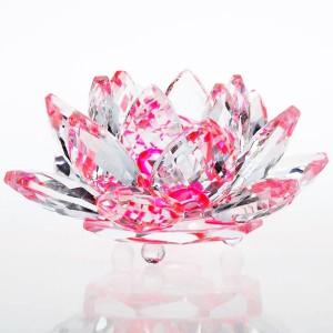 хрустальный Лотос розовый, диаметр 90 мм