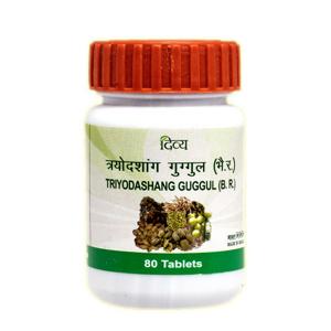 Трайодашанг Гуггул Дивья (Trayodashang Guggul Divya), 80 таблеток