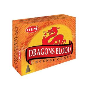 ароматические конусы Хем Кровь Дракона (Dragons Blood Hem), 10 штук