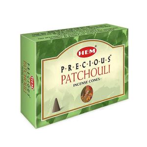 благовоние конусы Драгоценный Пачули (Precious Patchouli HEM), 10 штук