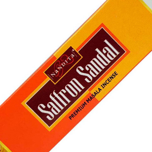 ароматические палочки Сандал и Шафран Нандита (Saffron Sandal Nandita), 15 гр.