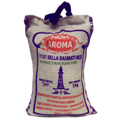Рис Басмати длиннозёрный не пропаренный Aroma (Sella Basmati Rice), 5 кг
