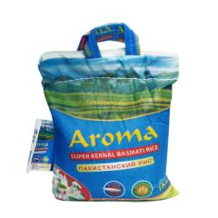 Рис супер Басмати длиннозёрный не пропаренный Aroma (super kernel Basmati rice), 1 кг