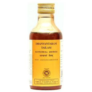 массажное масло Дхавантарам Тайлам (Dhanvantaram Tailam Kottakkal), 200 мл.
