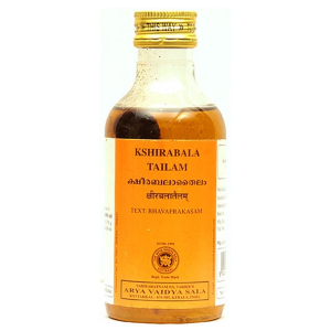 массажное масло Кширабала Тайлам (Kshirabala Tailam Kottakkal), 200 мл.