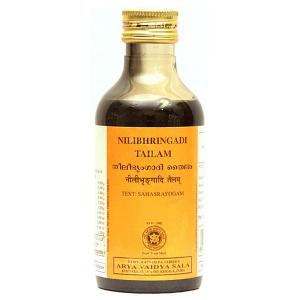 масло для волос контроль выпадения Нилибхрингади (Nilibhringadi Tailam, Arya Vaidya Sala), 200 мл