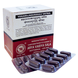 Йогарадж Гуггул Арья Вайдья Сала (Yogarajaguggulu Vatika Arya Vaidya Sala), 100 таблеток