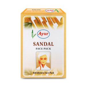 травяная маска для лица с Сандалом разглаживающая