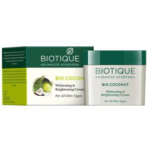 Крем для лица осветляющий Био Кокос Биотик (Biotique Bio Coconut), 50 гр.