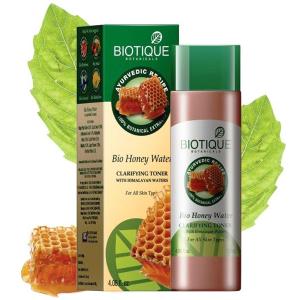 осветляющий и увлажняющий тоник Био Медовая вода Биотик (Bio Honey Water Clarifying Toner Biotique), 120 мл.