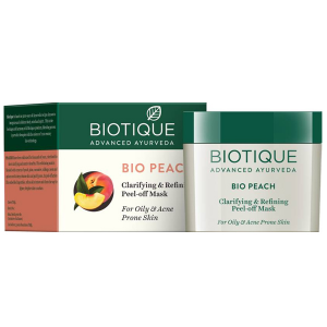 Плёночная маска для очистки кожи Биотик Био Персик (Biotique Bio Peach Clarifying & Refining Peel-off Mask), 50 гр.
