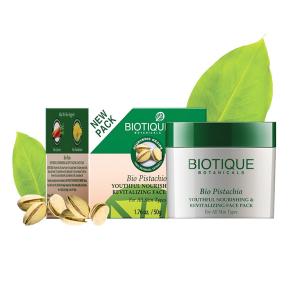 Омолаживающая маска для лица Биотик Фисташки (Biotique Bio Pistachio Face Pack), 50 гр
