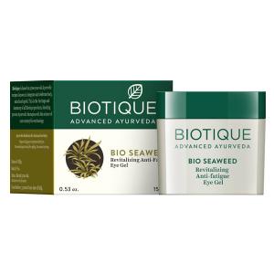 гель от тёмных кругов вокруг глаз Биотик с морскими водорослями (Bio Seaweed Revitalizing Anti-fatigue eye gel Biotique), 15 гр.