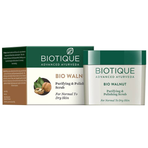 Скраб для сухой и нормальной кожи Биотик Био Грецкий орех (Biotique Bio Walnut), 50 гр.