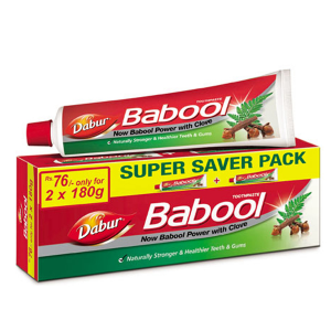 зубная паста Бабул Дабур (Dabur Babool) с аравийской акацией, 180+180 гр.