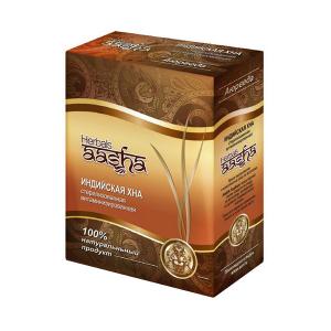 cтерилизованная витаминизированная индийская хна Aasha Herbals, 80 гр.