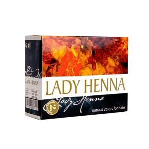 краска для волос на основе хны Lady Henna чёрный индиго, 6 х 10 гр.