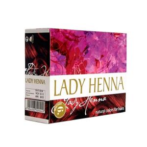краска для волос на основе хны Lady Henna бургунд, 6 х 10 гр.