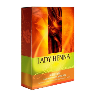 травяная краска для волос Lady Henna медная, 2 х 50 гр.