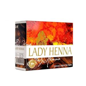 краска для волос на основе хны Lady Henna каштановая, 6 х 10 гр.