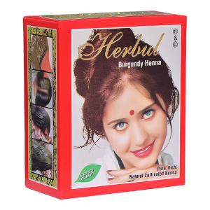 хна для волос Herbul цвет бургунд, 6 х 10 гр.