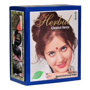 хна для волос Herbul цвет каштановый, 6 х 10 гр.