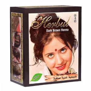 хна для волос Herbul тёмно-коричневая, 6 х 10 гр.