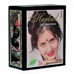 хна для волос Herbul светло-чёрная, 6 х 10 гр.