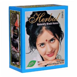 хна для волос Herbul натуральный чёрный, 6 х 10 гр.