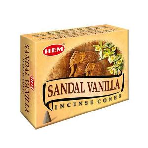ароматические конусы Хем Сандал-Ваниль (Sandal Vanilla Hem), 10 штук