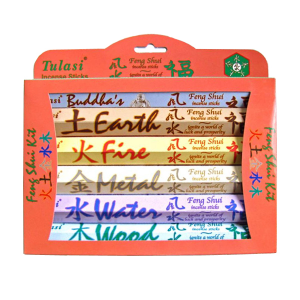 набор ароматических палочек Tulasi Фэн-Шуй (Feng Shui Gift Pack), 6 шт. в наборе