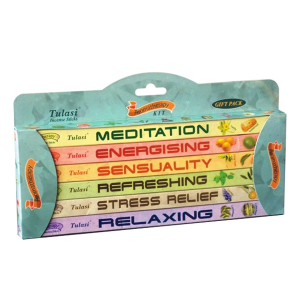 набор ароматических палочек Tulasi Ароматерапия (Aromatherapy Gift Pack), 6 шт. в наборе
