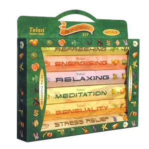 набор ароматических палочек Tulasi Ароматерапия 3 (Aromatherapy Gift Pack), 6 шт. в наборе