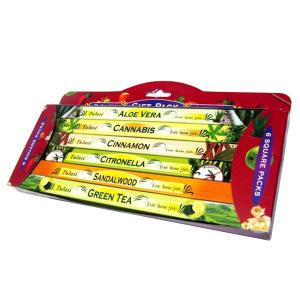 набор ароматических палочек Tulasi Ароматерапия 2 (Aromatherapy Gift Pack), 6 шт. в наборе