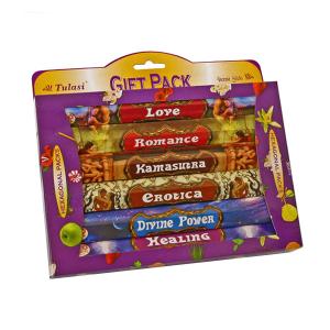 набор ароматических палочек Tulasi Любовь (Love Gift Pack), 6 шт. в наборе