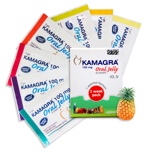 Камагра гель-100мг Силденафил цитрат (Kamagra Oral Jelly 100mg Sildenafil Citrate), 7 упаковок