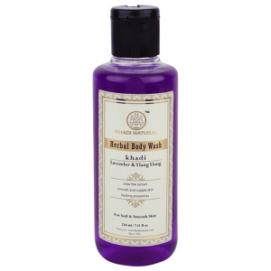 гель для душа Лаванда и Иланг-Иланг Кхади (Lavender & Ylang Ylang herbal body wash Khadi), 210 мл.