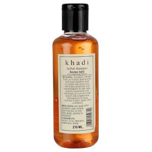 Шампунь для сухих волос Хна и Тулси Кхади (Heena & Tulsi, Khadi), 210 мл.