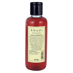 Шампунь для сухих и хрупких волос Мёд и Миндальное масло Кхади (Honey & Almond oil, Khadi), 210 мл.