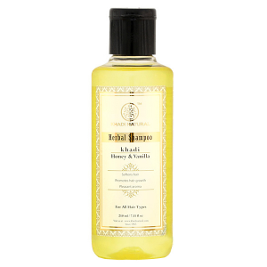 Шампунь увлажнение для сухих волос Мёд и Ваниль Кхади (Honey Vanila, Khadi), 210 мл.